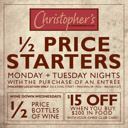Half Price starters
